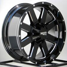 17  Inch Black Wheels Rims LIFTED Dodge RAM 1500 Truck 5x5.5 Moto Metal 17x10