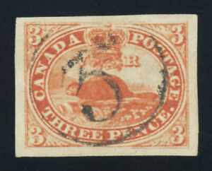 CANADA #4, 3p Red - on normal medium wove paper, Extremely Fine, 2016 PF cert.
