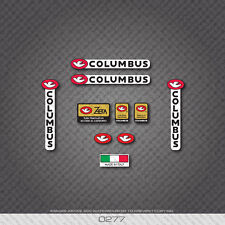 0277 Columbus Tubi ZETA Bicycle Frame and Fork Stickers - Decals