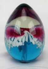 Glass Eye Studio Ges 92 Red White Blue Egg Paperweight Mint