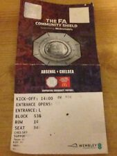 Arsenal vs Chelsea COMMUNITY SHIELD TICKET 06/08/2017 Wembley CFC AFC 5th August