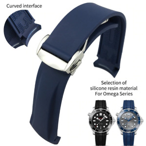 Silicone Watch Bands For Omega Seamaster 300 Speedmaster Strap Brand Watchband