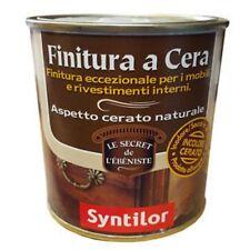 Syntilor Pittura Finitura a Cera Incolore Cerato Naturale 250ml Mobili interni