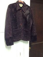 URBAN TRIBE , brown lace , sequin , bead embellished jacket , Size Small