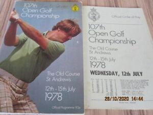 1978 Open Golf Programme