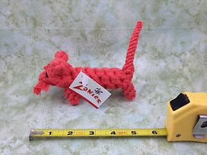 Zanies Rope Menagerie Orange Dog Chew Tug Rope Toy Tiger