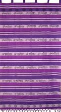 "Om Tab Top Curtain Drape Panel Cotton 44"" x 88"" Purple"