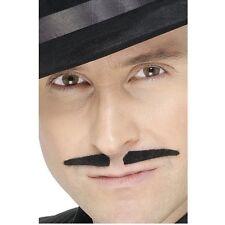 Spiv Gangster Moustache Tash 1920s 20s Fancy Dress Accessory Black Adults Unisex