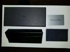 NEW AUTHENTIC CHRISTIAN DIOR BLACKLEATHER WALLETGLASSES/SUNGLASSESCASE+BOX+CLOTH