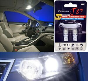 LED 5050 Light White 5000K 194 Two Bulbs Front Side Marker Parking Replace JDM