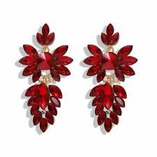 Crystal Earrings - Red Big Flamboyant Bohemian Cascade