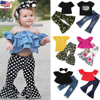 2Pcs Toddler Baby Kids Girls Camouflage Tops+Pants Set Outfits Clothes