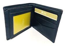 Fossil wallet Allen Traveler Trifold Wallet cow hide leather Navy Blue, MSRP $50