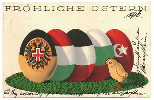Patriotika Ak Türkei Halbmond Kaiserreich Fröhliche Ostern Ostereier 1916 (A4114