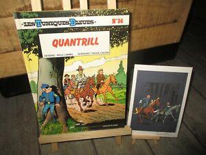 Lambil-Cauvin-Tuniques bleues + Ex Libris signé par Lambil-Quantrill-EO 1994