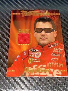 Tony Stewart PRESS PASS PREMIUM 2010 Hot Threads RACE USED FIRESUIT card #021