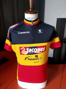 '07 Belgium champion Nico Eeckhout vintage cycling jersey maglia ciclismo Merckx