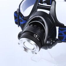 18650 5000LM CREE XM-L T6- LED Scheinwerfer Taschenlampe Kopf Lampe Stirnlampe