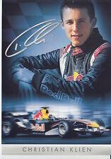 Christian Klien Red Bull F1 Promo Card Un Signed Formula 1 Large 1.