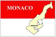 MONACO MAP & FLAG - SOUVENIR NOVELTY FRIDGE MAGNET - BRAND NEW - GIFT