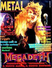 METAL SHOCK N. 175 Rivista 1/15 Settembre 1994 MEGADETH SLAYER + POSTER ELEGY