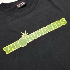 The Hundreds Mens T-Shirt sz 2XL Black Spell Out Tee Short Sleeve Bomb G42