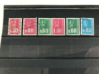 France, Marianne de Bequet 6 used stamps VF all different perfect guarantee