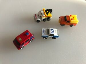 Micro Machines 1987 CITY SERVICE Collection Ambulance Police Fire Tow  Truck