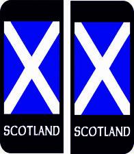 Scotland Scottish Flag Number Plate Badge Exterior Vinyl Sticker Car Decal x 4