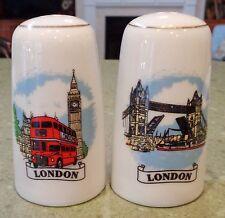 Salt & Pepper Shaker Set: LONDON Tower Bridge Red Bus Big Ben England Souvenir