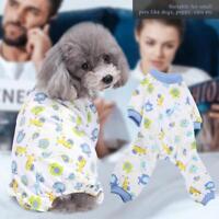 Pet Dog Puppy Sleepwear Pajamas Clothes Jumpsuit Cotton Clothing Apparel Costume