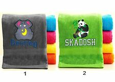 Personalized Animal Towel with FREE Custom Embroidery - custom Animal towels
