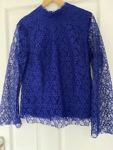 Finery BNWT Blue Lace Top Size 14