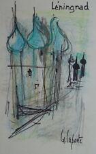 Georges LAPORTE (1926-2000) Technique mixte/papier Leningrad P1782