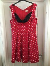Used Lindy Bap 26 Swing Dress Red & White Polka Dot  Plus Size