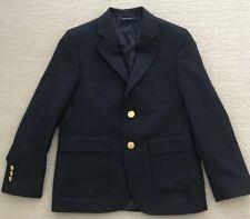 Brooks Brothers Boys Navy Blazer Jacket Loro Piana Wool- Size 10