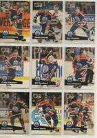 1991-92 EDMONTON OILERS Pro Set FRENCH Series 1 Team Set - 17 Cards - MESSIER