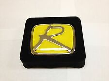 "YELLOW "" R ""HONDA EMBLEM BADGE JDM CIVIC SI ACCORD HONDA INTEGRA TYPE R H LOGO"