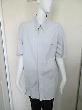 LACOSTE - BLUE/BROWN/WHITE FINE CHECK SHORT SLEEVED  SHIRT SIZE 39