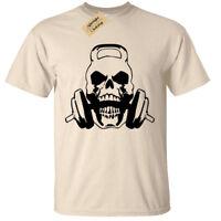 Skull Kettlebell Mens T Shirt S-5XL weight lifting gym training bodybuilding mma