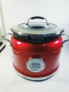 KitchenAid Multi-Cooker KMC4241 4-Qt All-in-One Cooking System Candy Apple Red