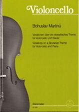 Partition violoncelle Bohuslav Martinù - Variationen über ein slowakisches thema