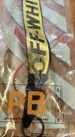 New Off White Industrial Keychain Ribbon Key Buckle Lanyard Sneaker Streetwear