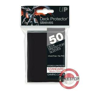 50 Protèges Cartes Deck Protector Sleeves STANDARD Ultra PRO 66x91mm - Noir