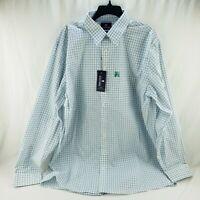 Men's Stafford Travel Performance Super Dress Shirt X-Tall Fit Blue 18, 18.5 New