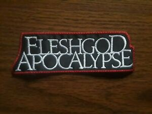 FLESHGOD APOCALYPSE,SEW ON WHITE WITH RED EDGE EMBROIDERED PATCH