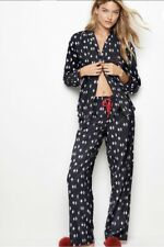 Victoria's Secret The VS Flannel Pajamas Set  PJ's Med NEW Penguins 🐧