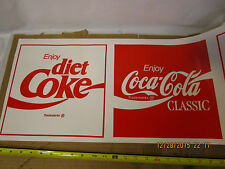 24 ft roll of Coca Cola and Diet Coke advertising vinyl banner store display NOS