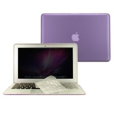 """2 in 1 Rubberized PURPLE Case for Macbook AIR 11"""" A1370 with TPU Keyboard Cover"""
