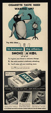 1939 KOOL Cigarettes - Smoking Penguin - VINTAGE AD